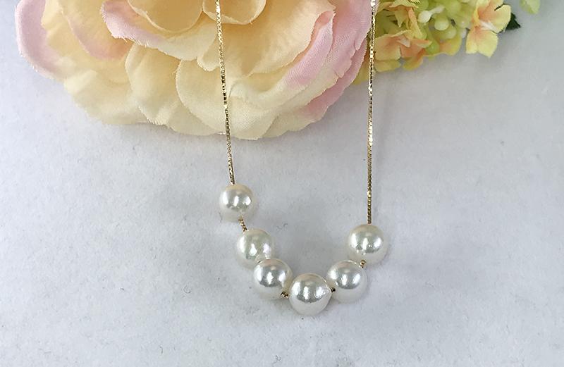 真珠のオーダーネックレス