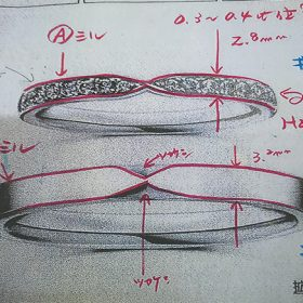 マリッジリング デザイン案